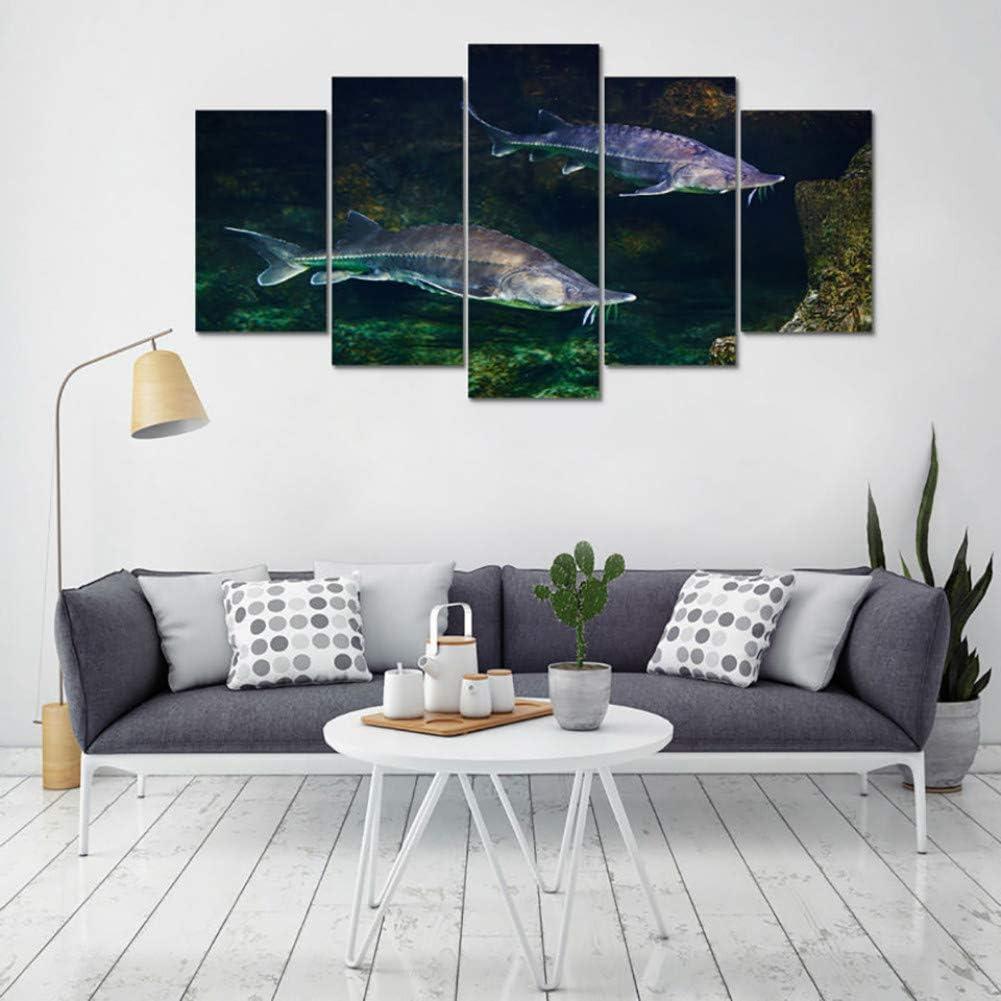 TBDZPS 5 Panel Moderne Leinwand Wohnzimmer Bilder Wohnkultur St/ör Tiermalerei Wandkunst Modulare Poster Hd Gedruckt