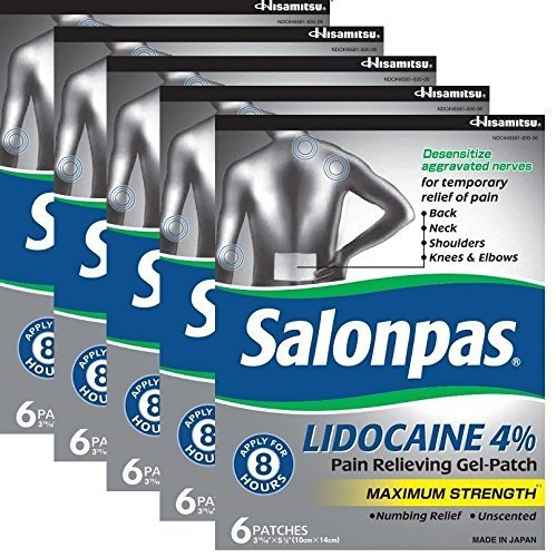 Salonpas LIDOCAINE (5 PACK Bundle) Pain Relieving Maximum Strength Gel ()