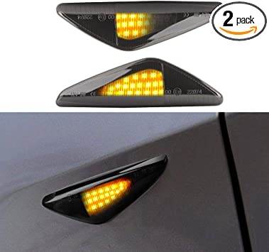 Dynamic Flowing Sequential LED Side Marker Amber Light For BMW X3 X5 X6 F25 E70