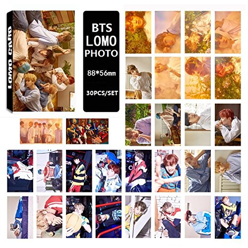 AhlsenL We Are Crazy Fans Series Kpop Photo Album Postcards BTS Love yourself Theme LOMO Card Mixed Pack (Photo Card Pack)