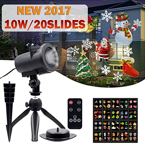 10W Christmas Projector Lights, 20PCS Slides and Remote Cont