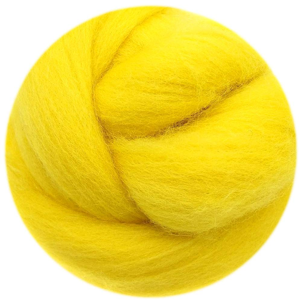 0.35oz Needle Felting Wool Roving Merino 70S Grade Eco-Friendly Super Soft Natural Wool Fiber for Needle Felting Kit 40 Color Options 40