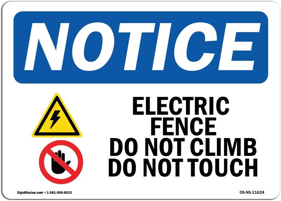 Do Not Climb OverMade in the USA OSHA WARNING Sign