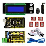 3D Printer Kit for Arduino Reprap RAMPS 1.4 Mega2560 A4988 Drive 2004LCD Display
