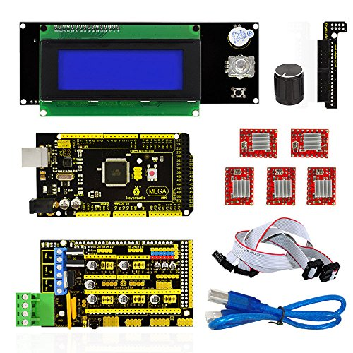 3D Printer Kit for Arduino Reprap RAMPS 1.4 Mega2560 A4988 Drive 2004LCD Display by Aigh Auality shop