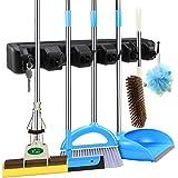Villeur Self Adhesive Mop Holder Wall Mounted Seamless Broom Hanger Clip Storage Racks
