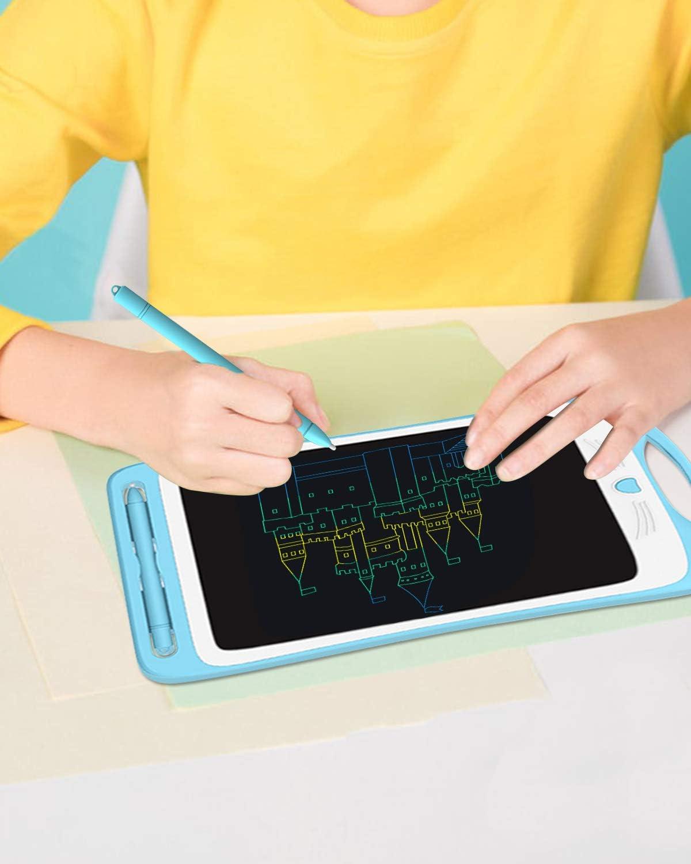 Ideal F/ür B/üro Bleu blau ANNVCHI LCD-Schreibtablett 30 cm Buntes Magic Slate-Zeichenbrett mit Papierlosem Stift Reise und B/üro