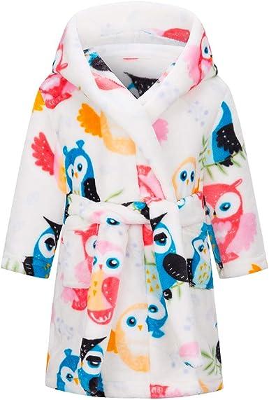 Oferta amazon: Taigood Albornoz niños niñas con Capucha Batas niño Suave Pijamas Ropa de Dormir niños Talla 6-7 años