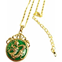 MCSAYS Chinese AAA Tibet Gold Green Jade Dragon Malay Jade Pendant Necklace & Pendants Pendent Gift
