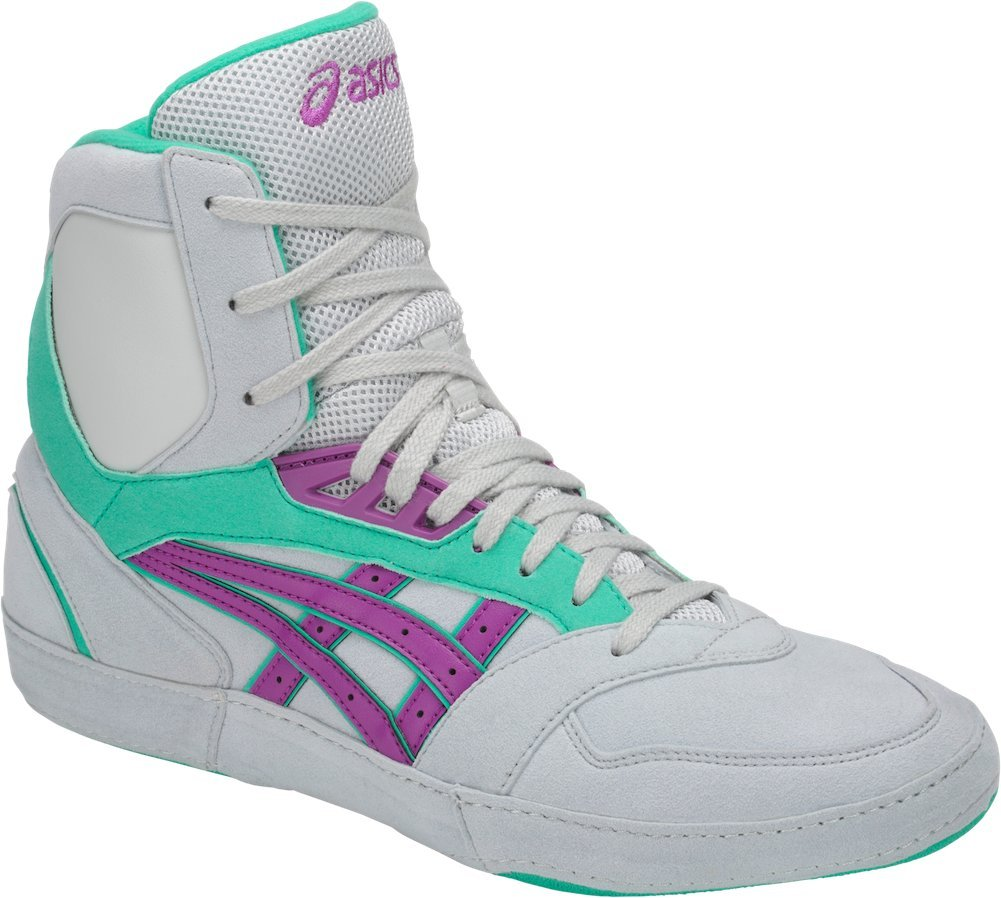 ASICS International Lyte Mens Wrestling Shoes, Glacier Grey/Orchid/Atlantis, Size 10.5