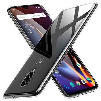 Peakally Funda OnePlus 6T, Transparente Silicona Funda para OnePlus 6T Carcasa Flexible Claro Ligero TPU Fundas [Antideslizante] [Resistente a ...