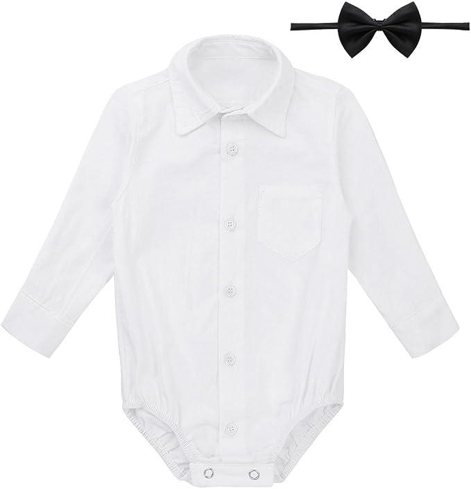 Newborn Gentleman Jumpsuit Bodysuit Wedding Outfit Romper Clothes Party Baby Boy