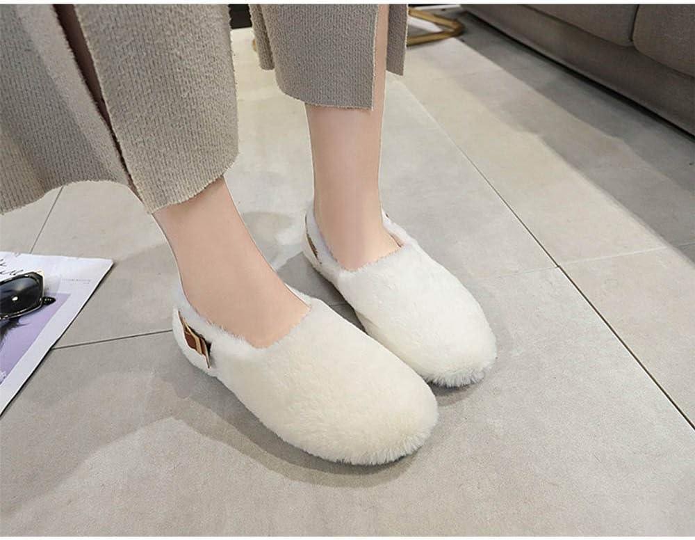LXIANGP Womens Shoes Flat Cotton Shoes Winter Shoes Snow Boots Boots Plus Velvet Ladies Shoes Womens Boots Winter Students 35-40