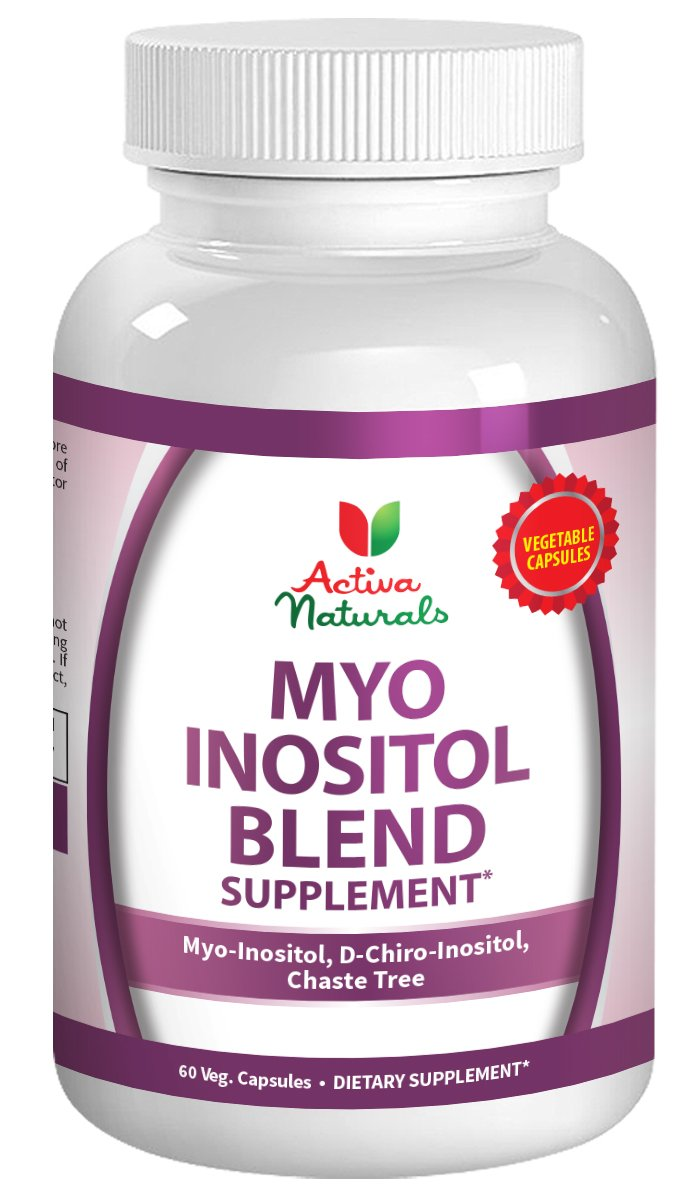 Myo Inositol Blend Supplement with D Chiro Inositol & Chaste Tree - 60 Veg. Caps. by Activa Naturals