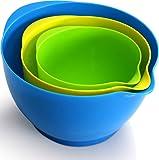 Mixing Bowl Set (3 Pieces - 1.2 Quarts - 2.1 Quarts - 3.6 Quarts) - by Utopia Kitchen