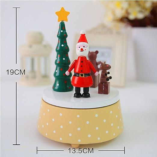 De madera adorno de Navidad caja Musical giratoria Festival regalo ...
