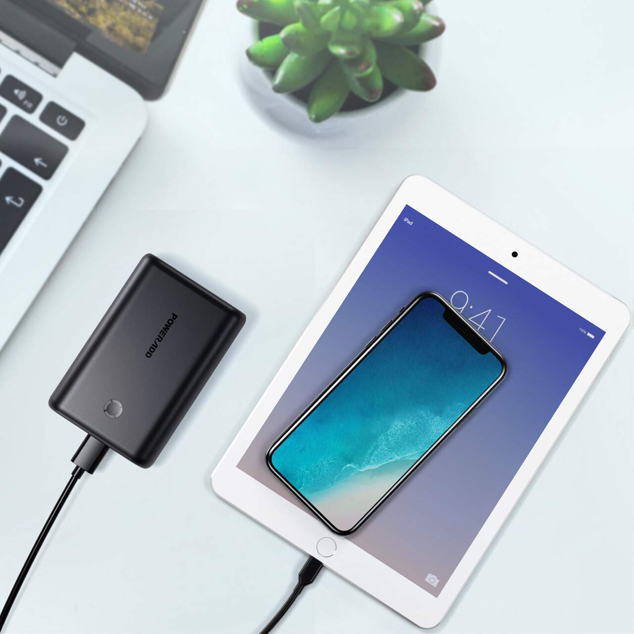 POWERADD EnergyCell 15000 Compact Portable Charger, Dual 5V/2.4A Output Ultra-Portable Cellphone Charger Power Bank for iPhone (11/11 Pro/11 Pro Max), Samsung, iPad, iPod and More Devices