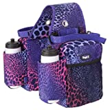 Tough-1 Saddle Bag/Bottle Holder/Gear Carrier - Tooled Leather Print