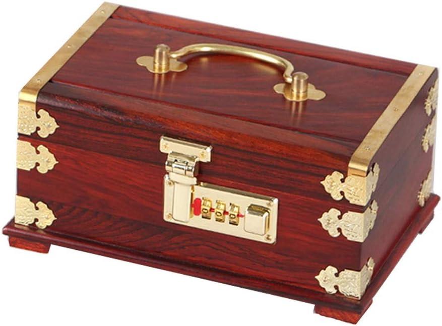 ジュエリーボックス 結婚式の婚約ギフト用のリングブレスレットヴィンテージポータブルアンティーク多彩なショーケースのためにジュエリーボックスのパスワードロックストレージボックス アクセサリー 収納 ジュエリー収納ボックス