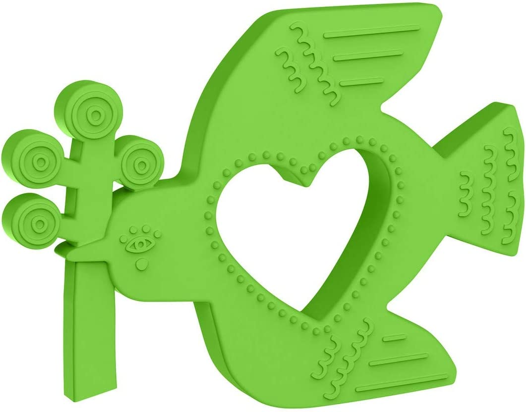 Green Manhattan Toy Animal Shapes Bird Silicone Teether