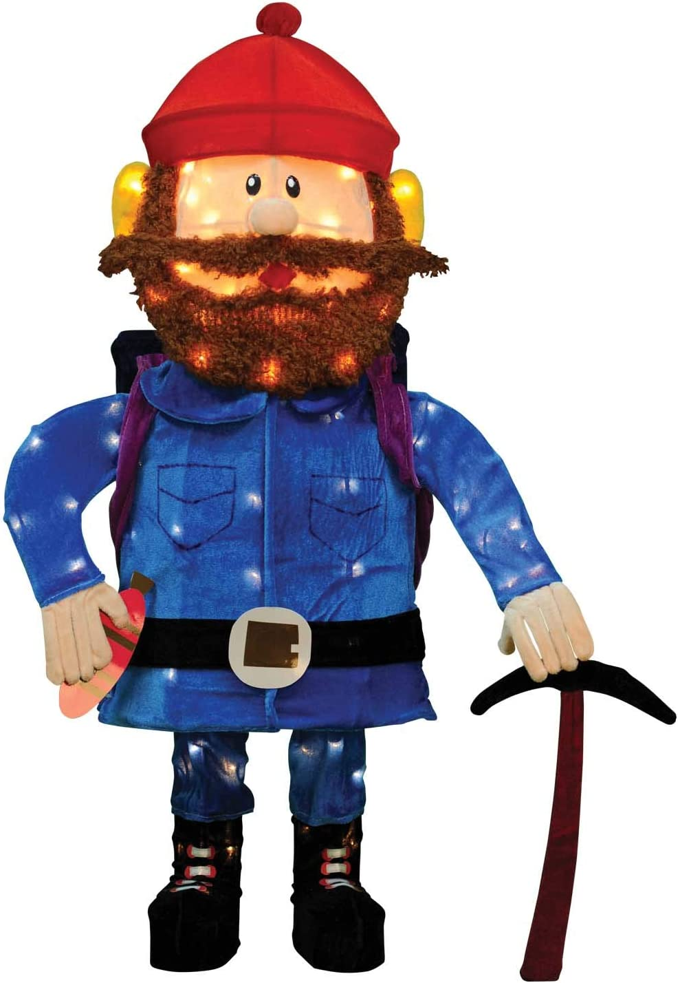 "Rudolph & Friends New for 2019 32"" LED Lighted Yukon Cornelius 3D Tinsel Christmas Decoration Yard Art 80 LED Lights from The Island of Misfit"
