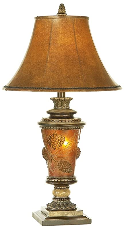 Pacific coast lighting pine cone glow table lamp in etruscan gold pacific coast lighting pine cone glow table lamp in etruscan gold aloadofball