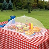 """Extra Large Picnic Table Food Tent - Pop-Up Food Cover - 24""""L x 46""""L Rectangle, Keep Insects Out"""