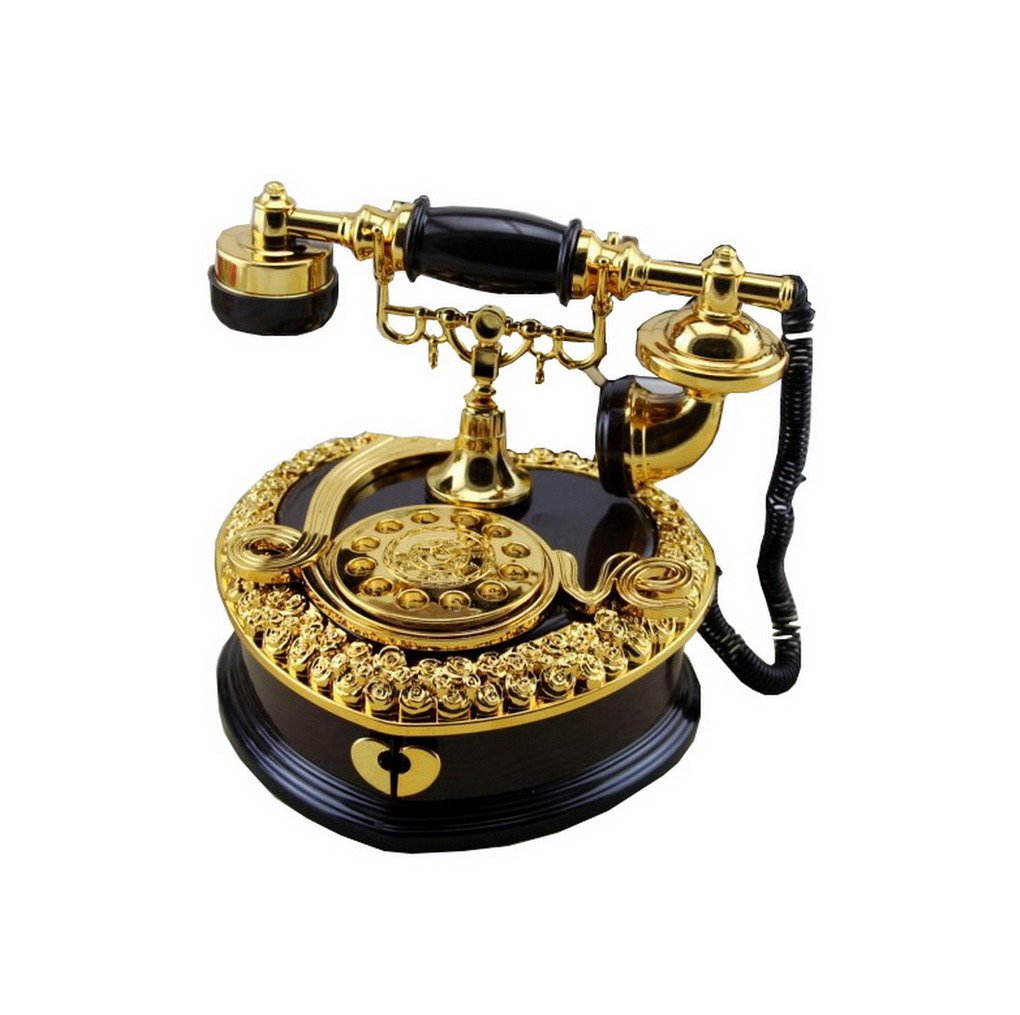 100%本物 ヴィンテージアンティークLoveスタイル電話電話ホームリビングルーム装飾音楽ボックス ブラック ブラック ACMEDE-123 ブラック B01IHARFLQ B01IHARFLQ ブラック, ナミノソン:a629a115 --- arcego.dominiotemporario.com