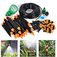 Auto Drip Irrigation Kit- 82FT Irrigation Pipe, Irrigation Spray ,Irrigation Timer ,Perfect Irrigation Systems for Flower Bed, Patio, Garden Greenhouse Plants