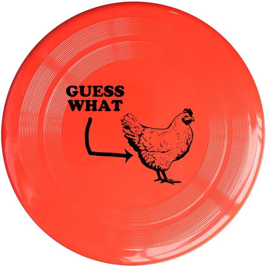 YQUE56 Unisex Guess What Chicken Butt Outdoor Game Frisbee Flying Discs RoyalBlue