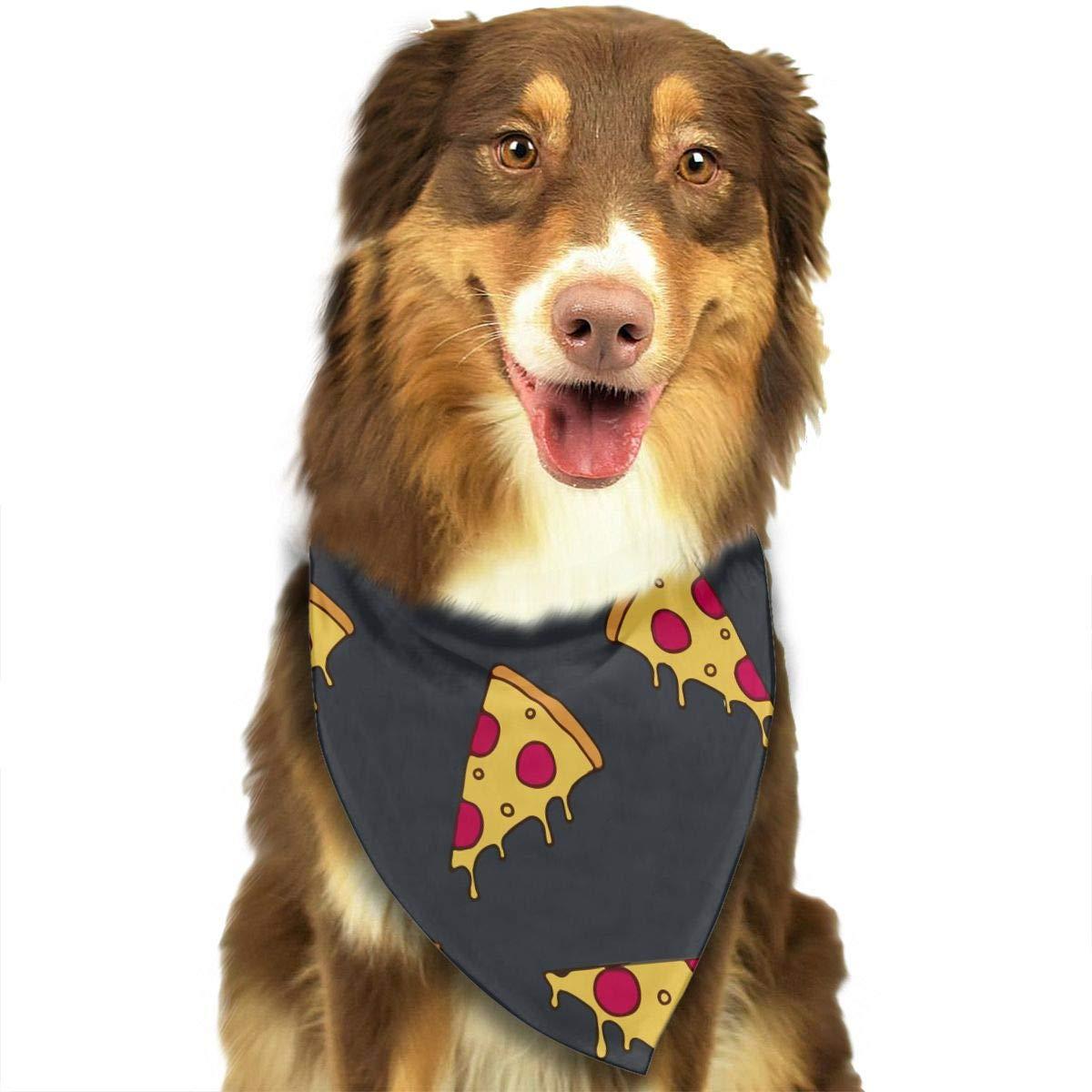 CHAN03 Dogs Bandana Collars Italy Pizza Pets Triangle Neckerchief Puppy Bibs Scarfs Cats Scarfs Towel