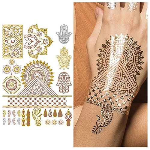 Tattify Metallic Indian Handpiece Temporary