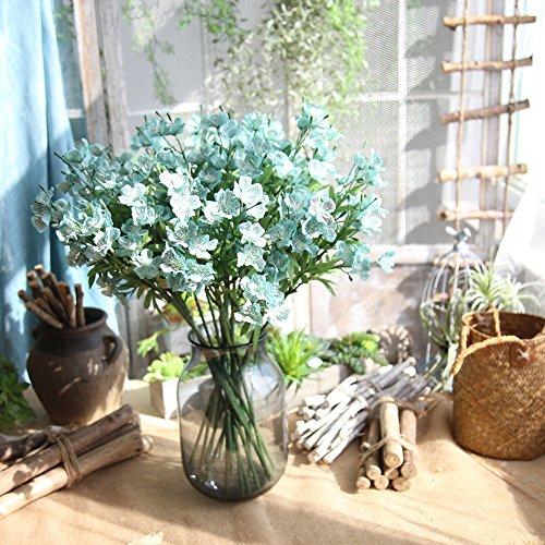 (Weiliru Artificial Butterfly Orchid Artificial Silk Flower Bouquet Phalaenopsis Wedding Home Decor)