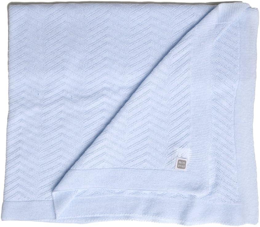 Minutus Manta Fina de Punto para Verano Algodón 80 Cm (Delta) (azul)