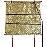 4 feet roman shades - Oriental Furniture Shang Hai Tan Blinds - Gold - (24 in. x 72 in.)