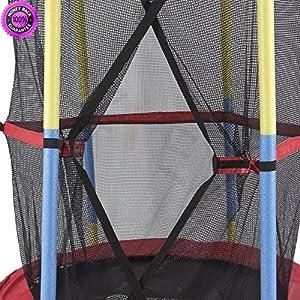 "DzVeX 55"" Round Kids Mini Trampoline w/Enclosure Net Pad Rebounder Outdoor Exercise And backyard trampolines trampolines on sale best trampoline reviews 14' trampoline with enclosure safest"