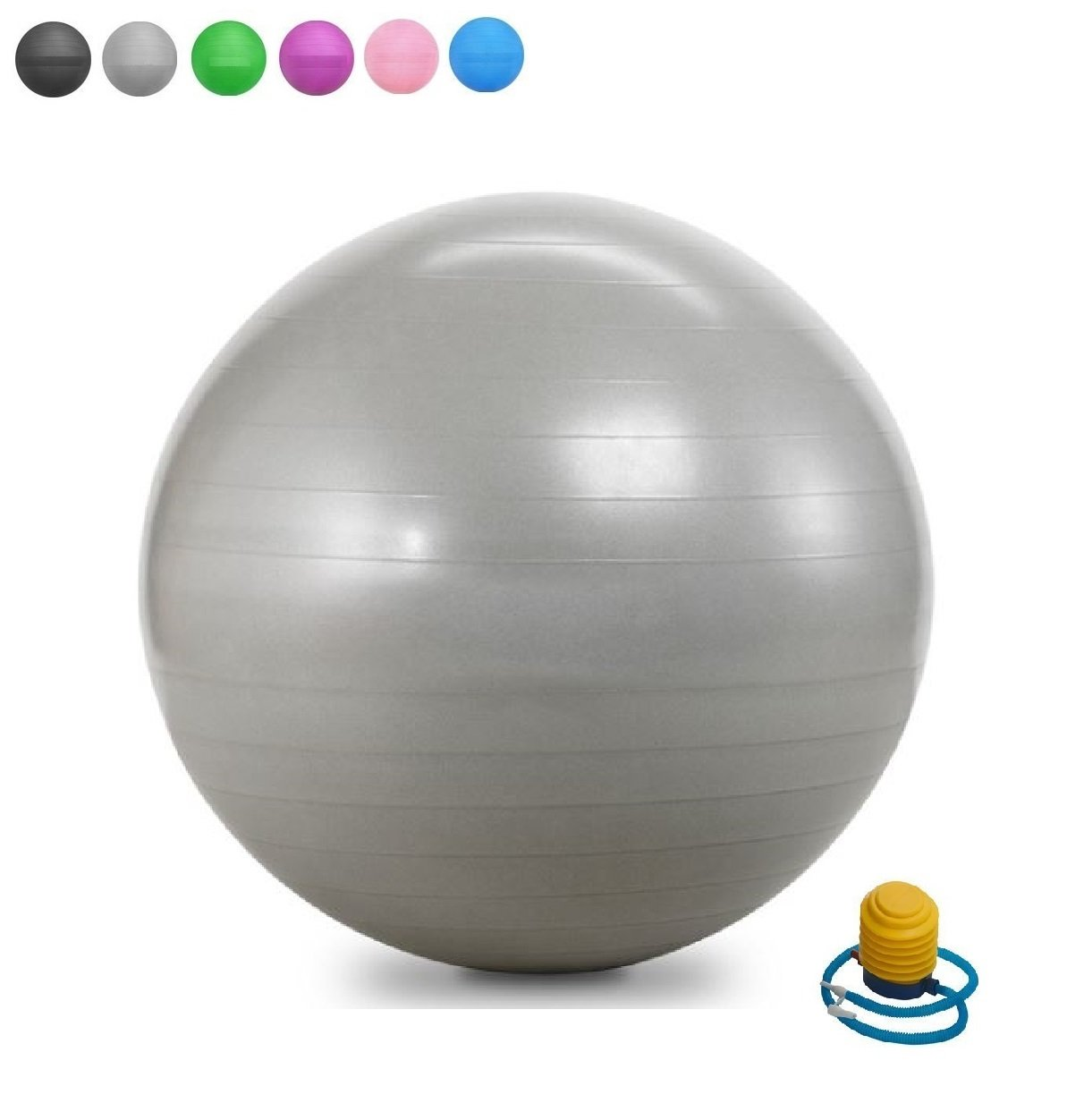 Admirable Fitwhiz Exercise Ball 45Cm 85Cm Extra Thick Yoga Ball Chair Anti Burst Heavy Duty Stability Ball Supports 2200Lbs Birthing Ball With Quick Pump Download Free Architecture Designs Ferenbritishbridgeorg