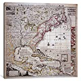 iCanvasART 1-Piece A Map of the British Empire in America with the French settlements adjacent thereto, engraved by William Henry Toms Canvas Print by Henry Popple, 37'' x 37''/0.75'' Deep