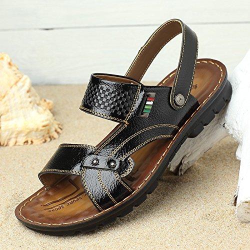 estate vera pelle sandali traspirante Tempo libero Spiaggia scarpa sandali Uomini Tempo libero scarpa ,nero,US=6.5,UK=6,EU=39 1/3,CN=39