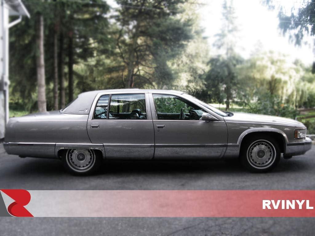 Carbon Fiber 3D Rvinyl Rtrim Pillar Post Decal Trim for Cadillac Escalade 2007-2013 White