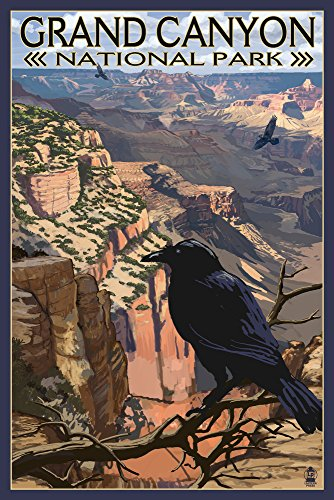 - Grand Canyon National Park, Arizona - Ravens at South Rim (12x18 SIGNED Print Master Art Print w/Certificate of Authenticity - Wall Decor Travel Poster)