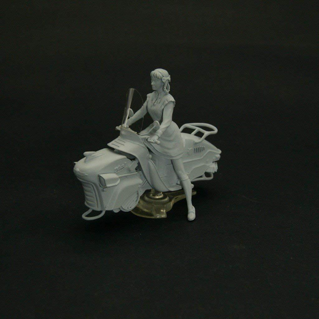 54 mm Soviet Pioneer Girl Rides The Hoverbike unpainted NorthStarModels