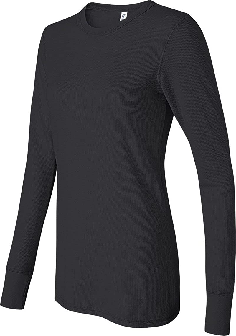 Bella Ladies Irene Long-Sleeve Thermal 2XL Black Bella+Canvas B8500