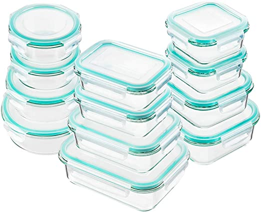 Amazon.com: Bayco - Recipiente de cristal para alimentos con ...