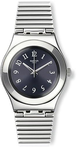 Swatch Reloj Análogo clásico para Niños de Cuarzo con Correa en Tela YLS186G: Amazon.es: Relojes