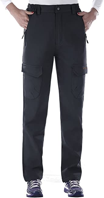 Unitop Womens Winter Outdoor Warm Water-Resistant Fleece Lined Ski Snow Pants