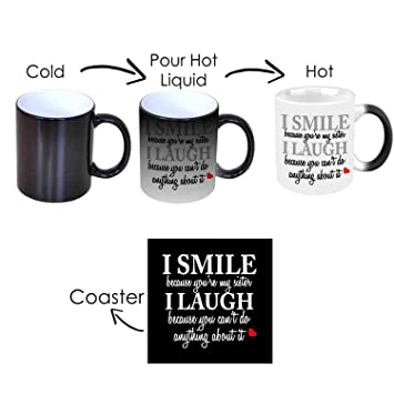 Buy GiftsmateTM Birthday Bhaidooj Gifts For Sister Funny Teasing I Smile Laugh Magic Mug Online At Low Prices In India