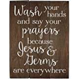 Sincerely Sunshine Wash your hands and say your prayers Sign Bathroom Decor Wall Art Kitchen Decor Kitchen Wall Art Bathroom Art