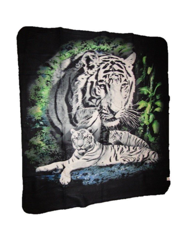 White Tiger Tigers 50x60 Polar Fleece Blanket Throw AES