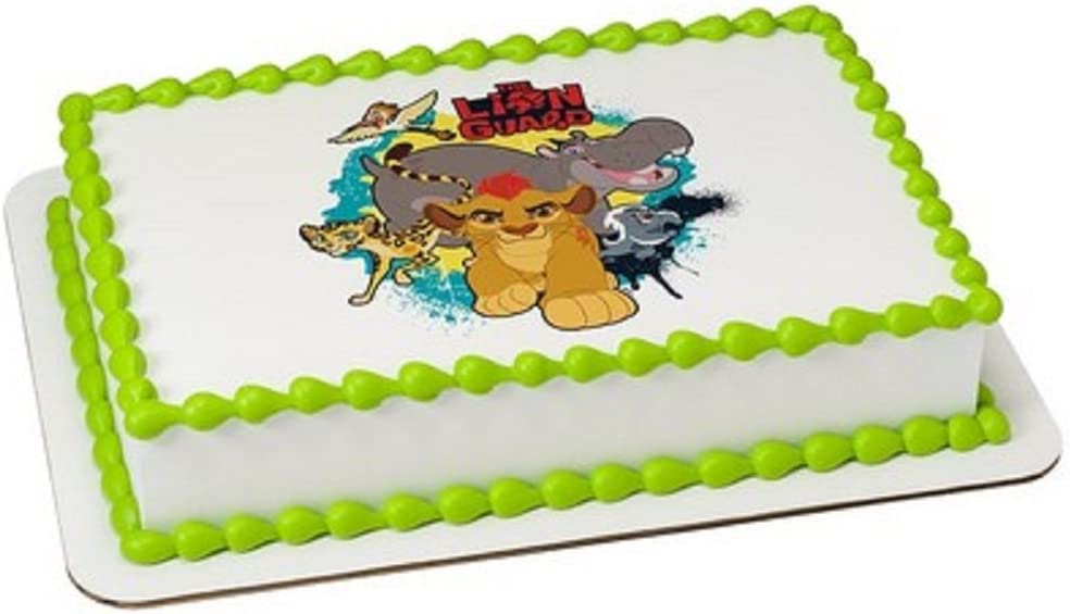 Whimsical Practicality Lion Guard Edible Icing Image for 1/4 Sheet cake
